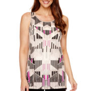 Worthington® Sleeveless Burnout Top
