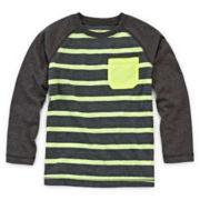 Okie Dokie® Raglan Striped Long-Sleeve Tee - Toddler Boys 2t-5t