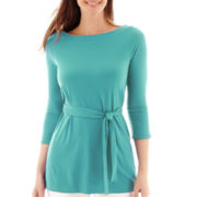 Liz Claiborne® 3/4-Sleeve Belted Tunic