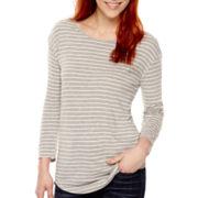 a.n.a® 3/4-Sleeve Back-Seam T-Shirt - Tall