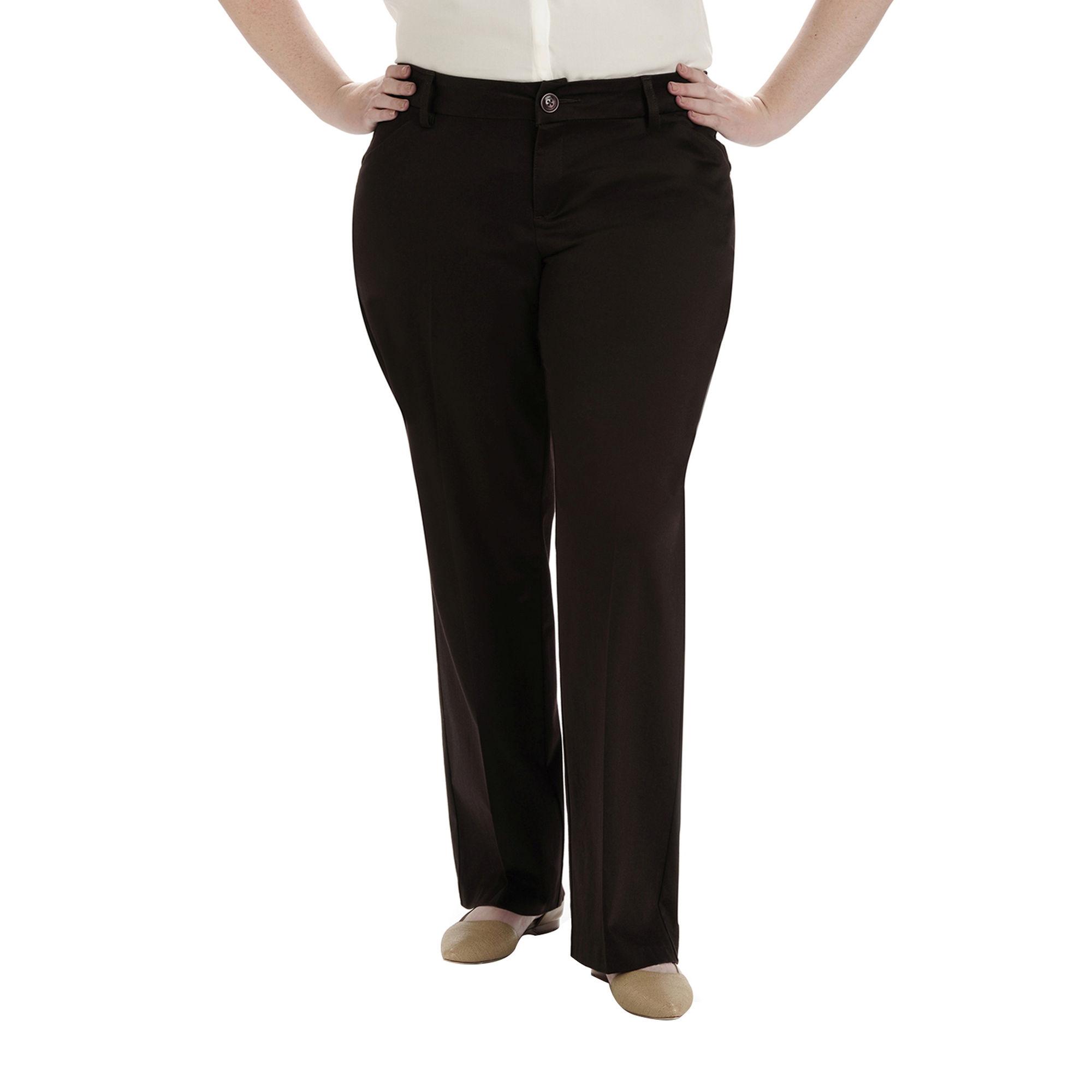 Lee Modern Series Curvy Fit Twill Trouser Pants - Plus