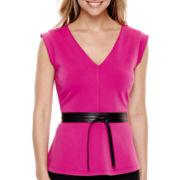 Worthington® Sleeveless Peplum Shirt - Tall
