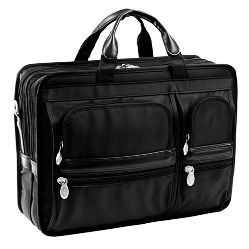 "McKleinUSA Hubbard 15.6"" Nylon Double Compartment Laptop Briefcase"
