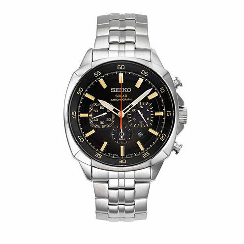 Seiko Mens Silver Tone Bracelet Watch-Ssc511