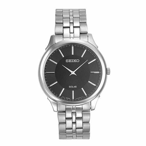 Seiko Mens Silver Tone Bracelet Watch-Sup865