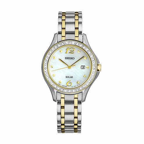 Seiko Womens Two Tone Bracelet Watch-Sut312