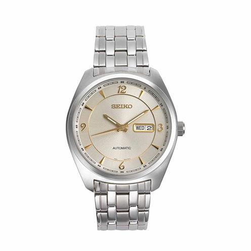 Seiko Mens Silver Tone Bracelet Watch-Snkn99