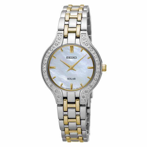 Seiko Womens Two Tone Bracelet Watch-Sup335