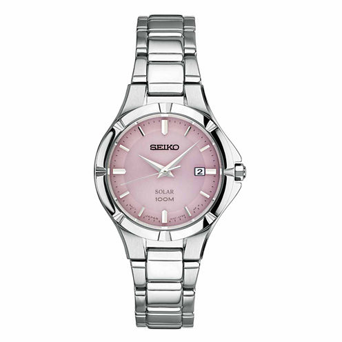 Seiko Womens Silver Tone Bracelet Watch-Sut315