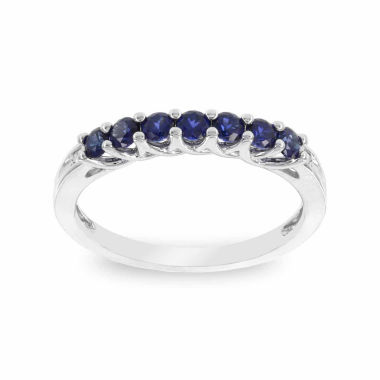 jcpenney.com | Womens Diamond Accent Round Blue Sapphire 10K Gold Stackable Ring