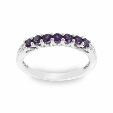 jcpenney.com | Heat Treated Round White Amethyst 10K Stackable Ring