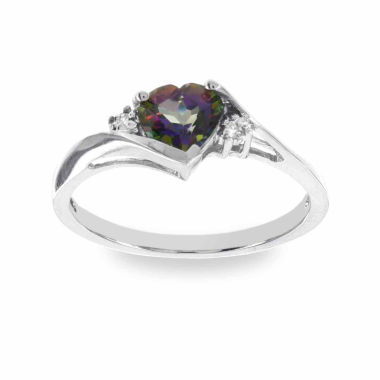 jcpenney.com | 10K White Gold Genuine Mystic Fire Topaz Diamond Accent Ring