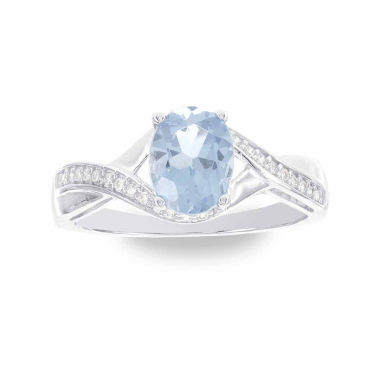 jcpenney.com | 1/8 CT. T.W. Blue Topaz 14K Gold Cocktail Ring
