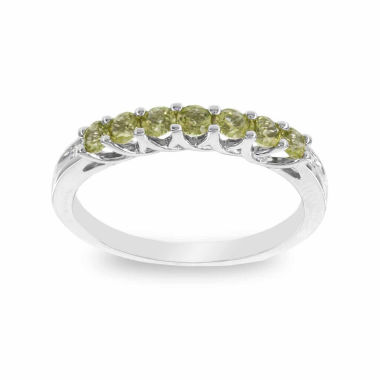 jcpenney.com | 10K White Gold Genuine Peridot & Diamond-Accent Stackable Ring