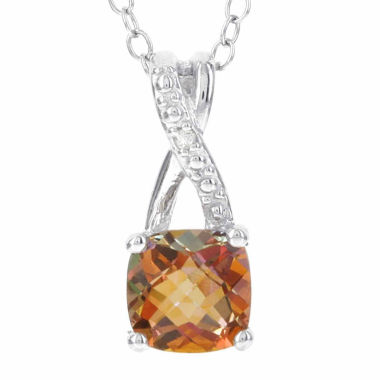 jcpenney.com | Sterling Silver Genuine Sunset Topaz & Diamond-Accent Pendant Necklace
