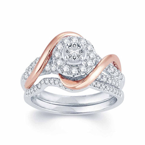 1 CT. T.W. Diamond 14K Two-Tone Gold Engagement Ring