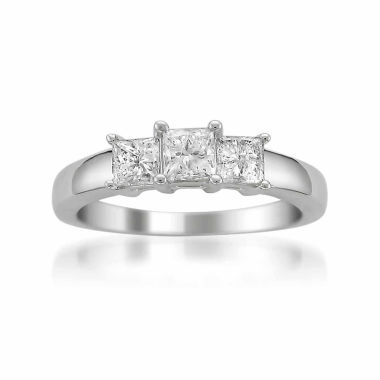 jcpenney.com | Womens 1 CT. T.W. Princess Diamond Platinum 3-Stone Ring