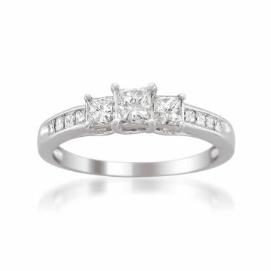 jcpenney.com | Womens 1 CT. T.W. Princess White Diamond Platinum 3-Stone Ring