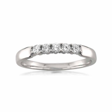 jcpenney.com | Womens 1/4 CT. T.W. White Diamond 18K Gold Wedding Band