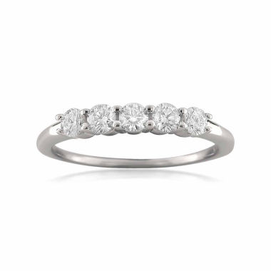 jcpenney.com | Womens 1/2 CT. T.W. White Diamond 18K Gold Wedding Band