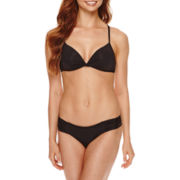 a.n.a® Solid Push-Up Swim Top or Side Shirred Hipster Swim Bottoms