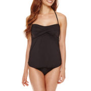 a.n.a® Twist-Front Tankini Swim Top or Side-Shirred Hipster Swim Bottoms