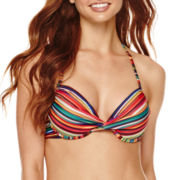 a.n.a® Striped Ombre Push-Up Swim Top