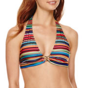 a.n.a® Striped Ombre Halter Swim Top