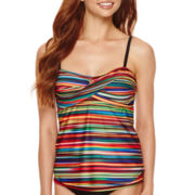 a.n.a® Ombre Striped Twist Swim Tankini Top