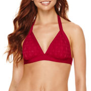 a.n.a® Red Crochet Halter Swim Top