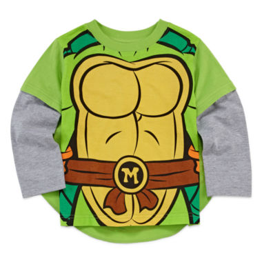 jcpenney.com | Boys Long Sleeve Teenage Mutant Ninja Turtles T-Shirt-Toddler