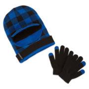 Weatherproof 3-WAY Hat & Glove Set- Boys 8-20