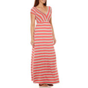 Planet Motherhood Maternity Cap-Sleeve Maxi Dress