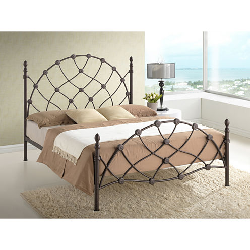 Baxton Studio Monique Chic Iron Metal Platform Bed