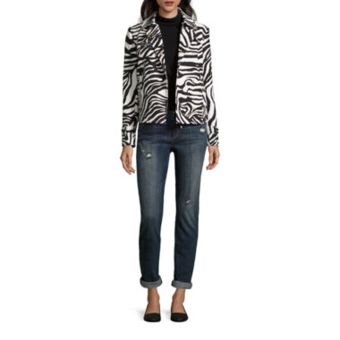 jcpenney.com | Liz Claiborne® Zebra Trench Coat, Elbow-Sleeve Turtleneck or Boyfriend Skinny Jeans