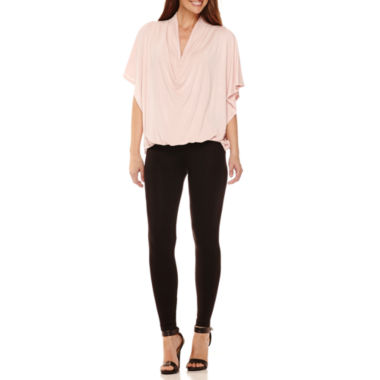 jcpenney.com | Worthington® Edition Drape Front Tee And Legging