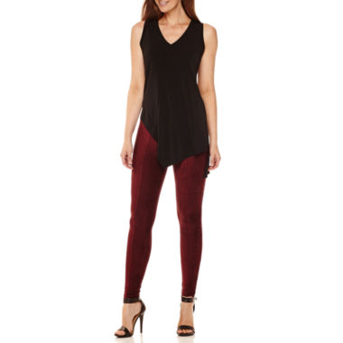 jcpenney.com | Worthington® Sleeveless Asymmetrical-Hem Tunic or Suede Leggings