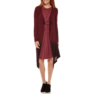 jcpenney.com | Worthington® Sleeveless Knot Waist Dress or Dip Dye Cozy