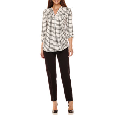 jcpenney.com | Worthington® 3/4-Sleeve Tunic or Slim-Fit Ankle Pants