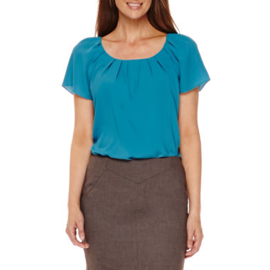 jcpenney.com | Worthington® Pleated Neck Blouse or Pencil Skirt