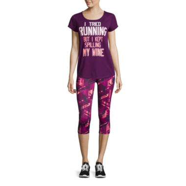 jcpenney.com | Xersion™ Short-Sleeve Studio Graphic Tee or Print Capris