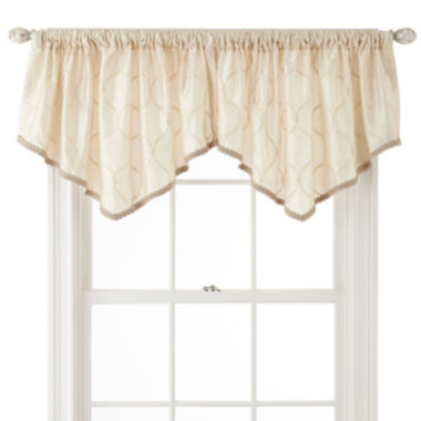 jcpenney.com | Royal Velvet® Geneva Rod-Pocket Ascot Valance