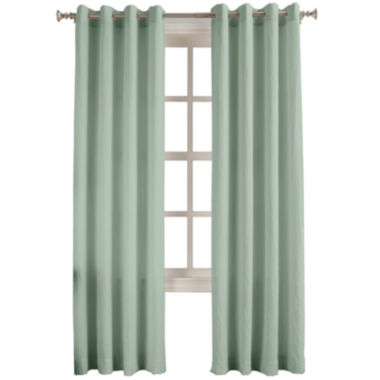 jcpenney.com | No. 918 Oasis Crushed Microfiber Grommet-Top Curtain Panel