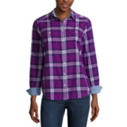 St. John's Bay® 2-Pocket Classic Shirt