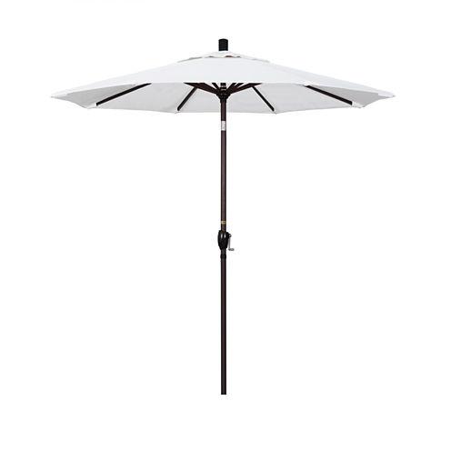 California Umbrella 7.5' Pacific Trail Series Pacifica Patio Umbrella With Bronze Aluminum Pole Aluminum Ribs Push Button Tilt Crank Lift