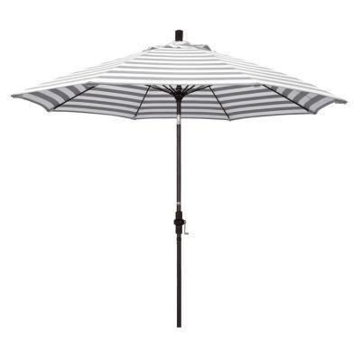 Delicieux California Umbrella 9u0027 Sun Master Series Stripe Olefin Patio Umbrella With  Bronze Aluminum Pole Fiberglass