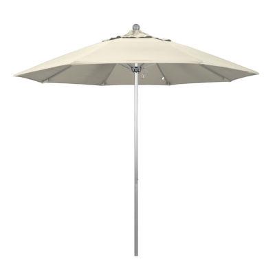Superieur California Umbrella 9u0027 Venture Series Solid Olefin Patio Umbrella With  Silver Anodized Aluminum Pole Fiberglass
