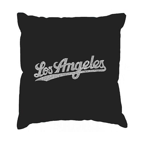Los Angeles Pop Art LOS ANGELES NEIGHBORHOODS Throw Pillow Cover