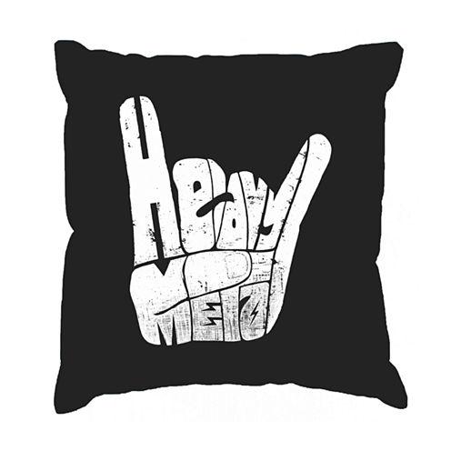Los Angeles Pop Art Heavy Metal Throw Pillow Cover