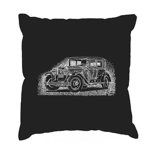 Los Angeles Pop Art Legendary Mobsters Throw Pillow Cover